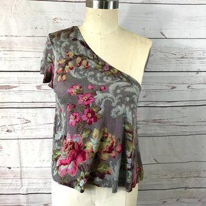 *3/$18*BP One Shoulder Floral Print Blouse